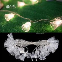 Buy 10M Bell Shape LED Fairy String Lights Bell Lights Curtain 220V Garland Christmas Xmas Wedding Party Garden Decorative Light for $16.18 in AliExpress store