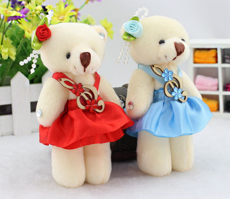 12CM Note Soft Toys Mini Teddy Bear,Cheap Teddy Bear,Kawaii Wholesale Mini Teddy Bear Toys For Children(China (Mainland))