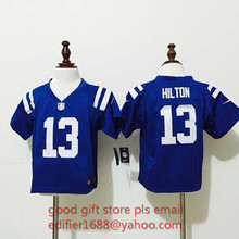 100% stitched baby Indianapolis Colts toddler 1 Pat McAfee 12 Andrew Luck 13 T Y Hilton 87 Reggie Wayne Embroidery Logos(China (Mainland))