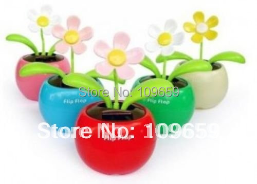 Free shipping Flip Flap Solar Powered apple flower toys,Cool Car Dancing Solar Toys CY-01-027
