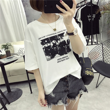 Buy 2017 Kawaii Funny Character Print tshirt Women Casual Tee Shirt Lady Fashion Harajuku Brand Female Tshirt Plus Size Tops for $6.52 in AliExpress store