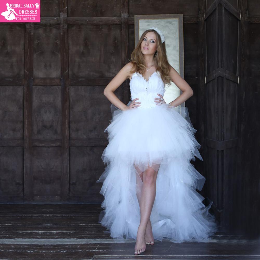 Achetez en gros robe de mari e courte de plume en ligne for Bas les robes de mariage arkansas
