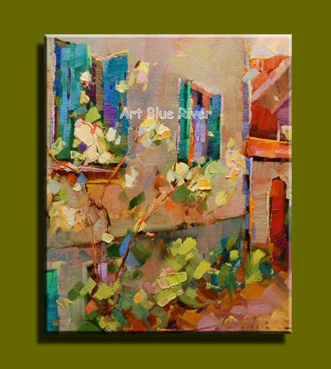 Abstract modern canvas wall handmade contemporary famous artist Knife paint oil painting on canvas for living room decoration(China (Mainland))
