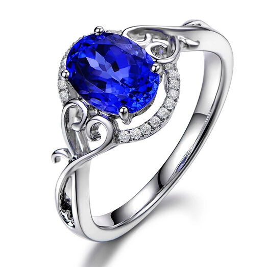 Blue Tanzanite Engagement Ring Engagement Ring With Blue