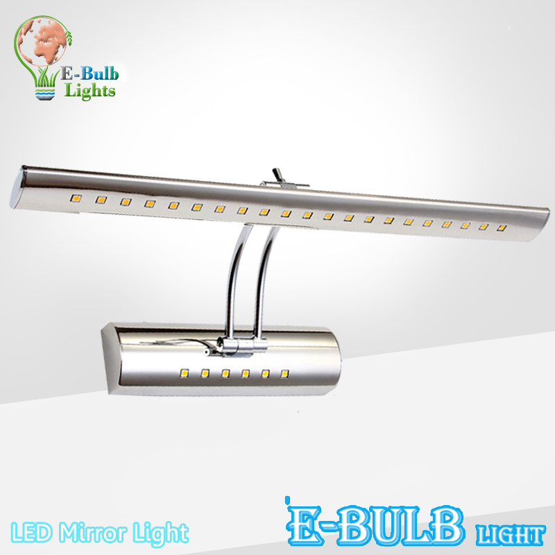 Bathroom LED Mirror Light 7W 40CM 21 LEDs 9W 56CM 30 leds SMD5050 AC110-220V Stainless Steel Table Sconces LED Wall Lamp Switch(China (Mainland))