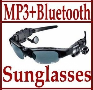 Music player Sunglasses 2GB Headset Bluetooth Mp3 Player Sun Glass SunGlasses free shipping