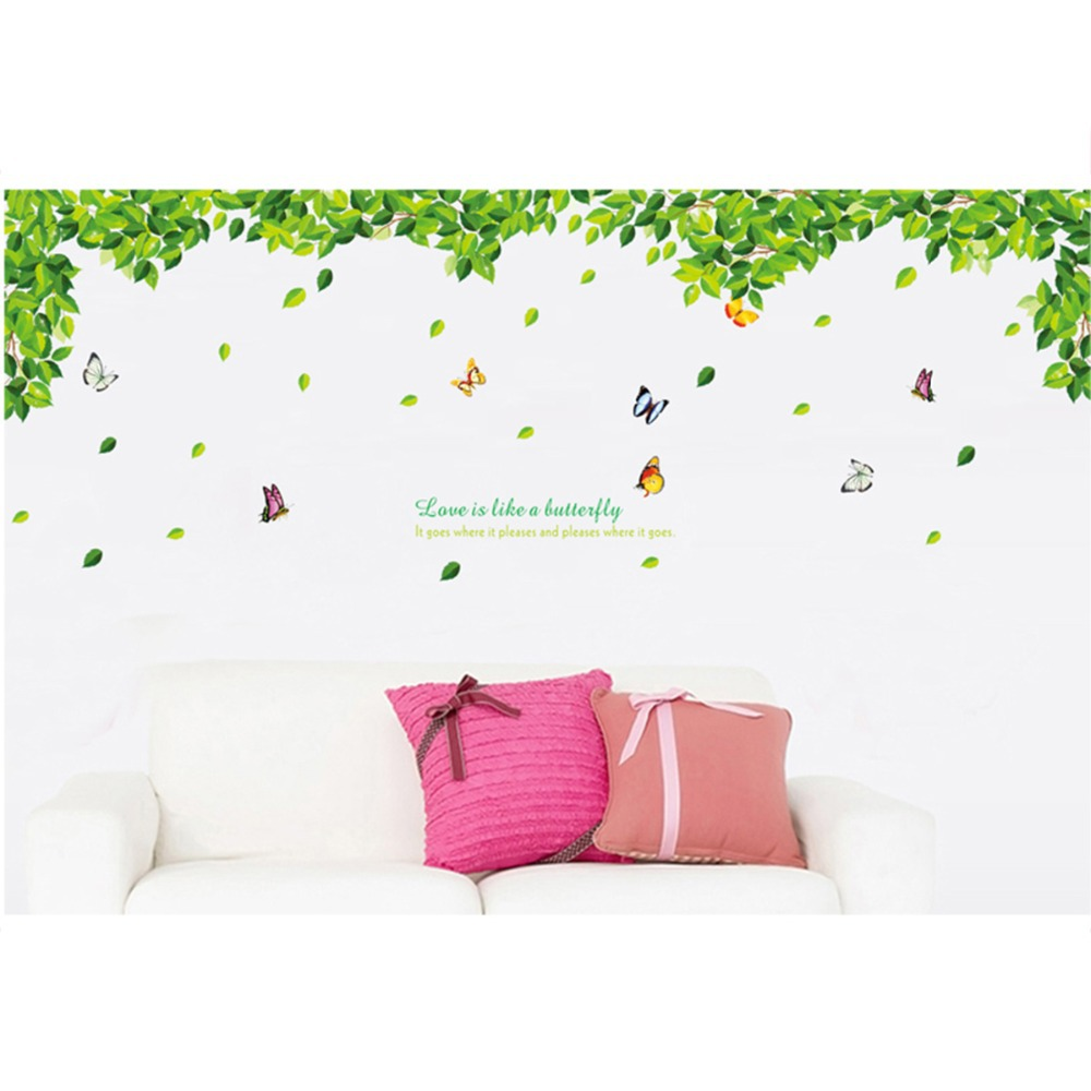 Green wall decals