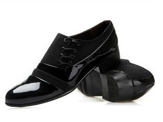 2014 mens black dress tuxedo wedding shoes lace up oxfords