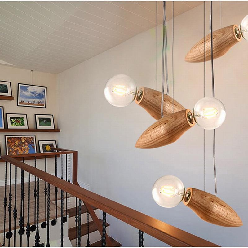 New design retro Bees pendant lights Loft drop lamp Modern creative nature wood hanging lamp Edison bulb Free shipping/Lumen <br><br>Aliexpress