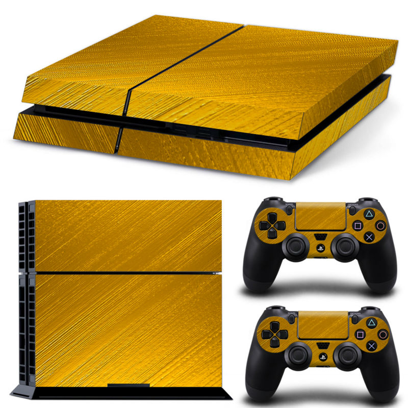 Exclusive Golden play 4 Skin Vinyl Decal Skin Stickers For play station 4 Console PS4 Games+2Pcs Stickers For ps4 accessories(China (Mainland))