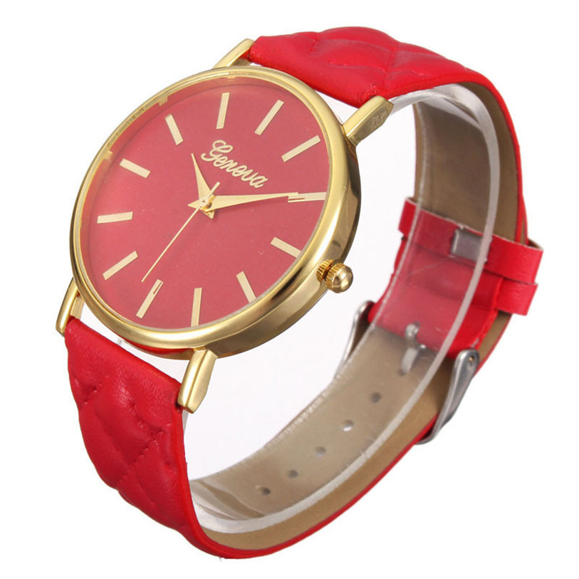 Superior Fashion Casual Roman Leather Band Analog Quartz Wrist Watch for Women July2