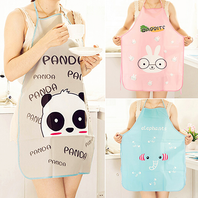 new Elephant/rabbit/panda Special Offer Apron Kit Bib Apron Long Sleeve Cuff Waterproof Aprons Gowns Suits For Men And Women *(China (Mainland))