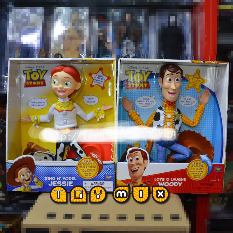 1pair Big Size Toy Story 3 Talking Woody Toy Story Jessie 45cm PVC Action Figure Collectible Model Toy Doll(China (Mainland))