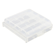 Hot Selling Pack of 9 PCS AA / AAA Battery Storage Hard Case Box-Clear