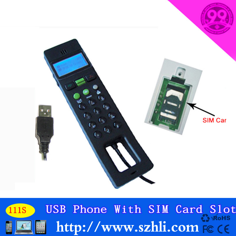 111S SIM card slot to save the telphone number, with Screen USB phone(China (Mainland))