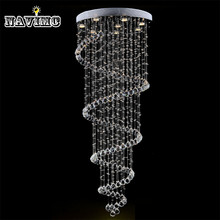 Modern K9 Large LED Spiral Living Room Crystal Chandeliers Light Fixtures for Staircase Stair Lamp(China (Mainland))