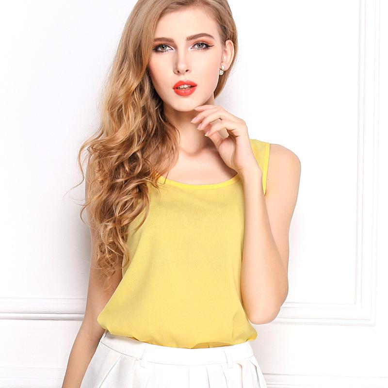 2015 новый летний стиль кутюр конфеты цвет шифона рубашку для дам рукавов подтяжки топы горячая распродажа рубашка
