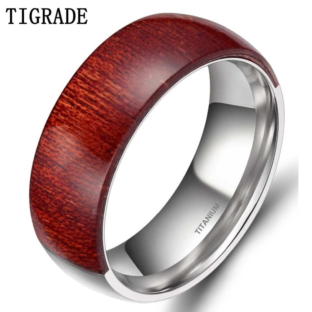 Деревянные кольца на палец 189