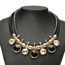 New Fashion Gold-Plated Geometric Round Pendants Choker Sweater Necklace Fashion Women's Jewelry Accessory(China (Mainland))