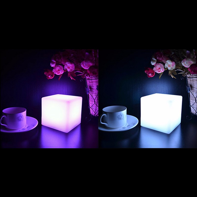 7 Colors Romantic Changing Mood Cubes LED Night Light Lamp Glow Gadget Gizmo Light Home Decoration Nightlight(China (Mainland))