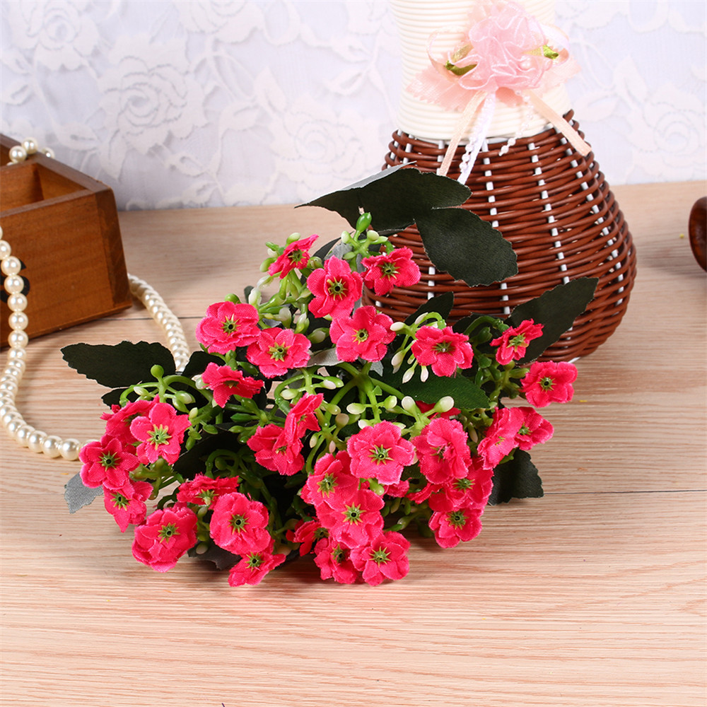 1Pc Milan Realistic Bouquet  Wedding Party Decor Bunch Artificial Silk Flower Decorative Flowers
