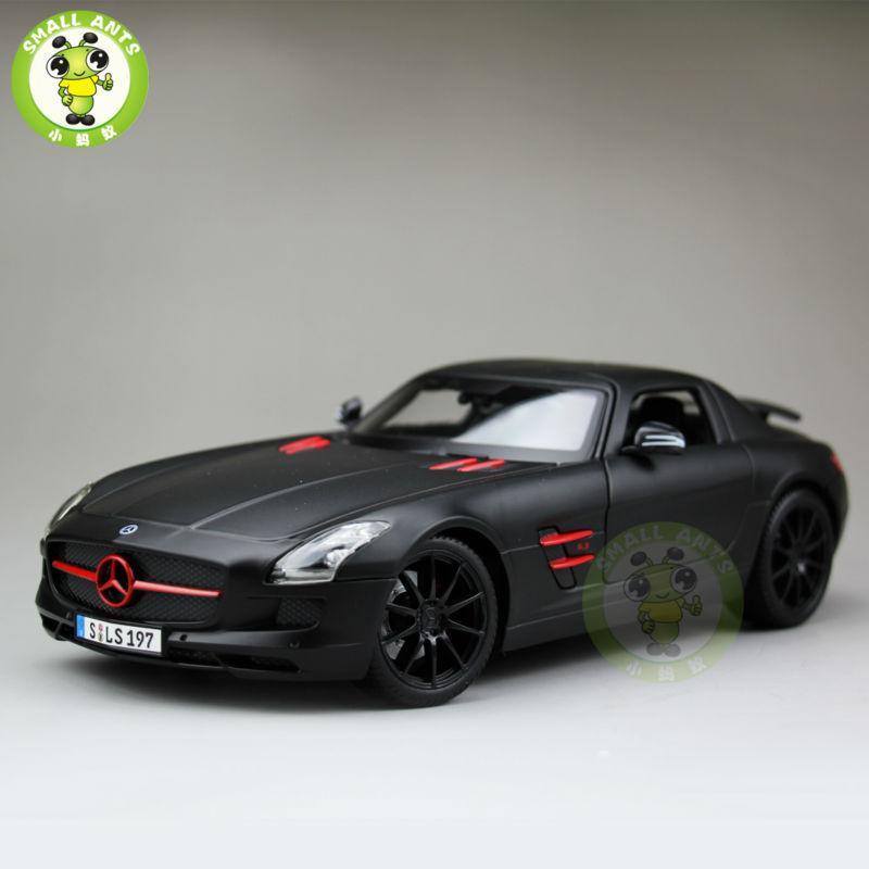 1:18 Scale Mercedes-Benz SLS AMG Diecast Metal Car Model Maisto 36196 Matte Black