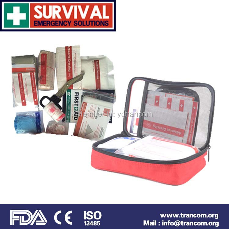 TR102 Professional Manufacture Emergency Car First Aid Kit and Medical Content First Aid Kit with CE FDA ISO TGA(China (Mainland))