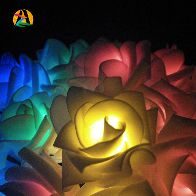 Rose Solar LED String Lights Romantic Garden 100Leds 12M Outdoor Christmas Holiday Festival Party Garden Decoration Solar Lamps(China (Mainland))