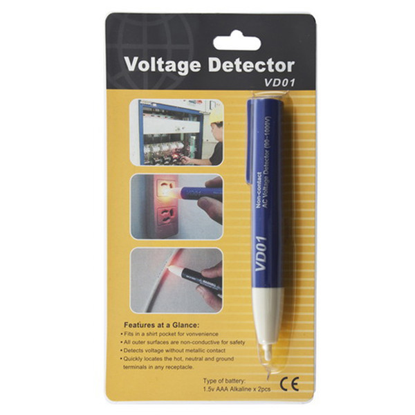 1pc Voltage Detector 90~1000V AC Tester Pen Non-Contact for Electrical Testing Worldwide FreeShipping<br><br>Aliexpress