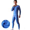 KWAN Z male thermal underwear thicker plus velvet thermos long johns men top compression termica underwear