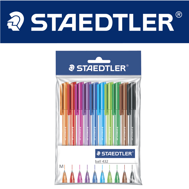 STAEDTLER 10pcs Staedtler color triangle color suit