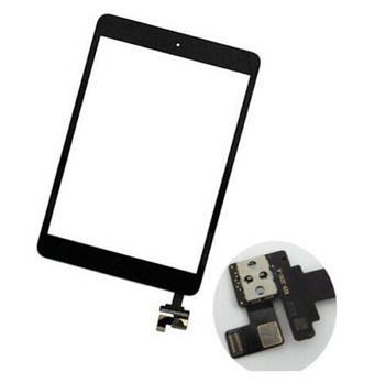 For iPad Mini 1 ipad Mini 2 Touch Panel Screen Digitizer Glass +IC Connector + Home Button Flex Replacement Parts Free Shipping