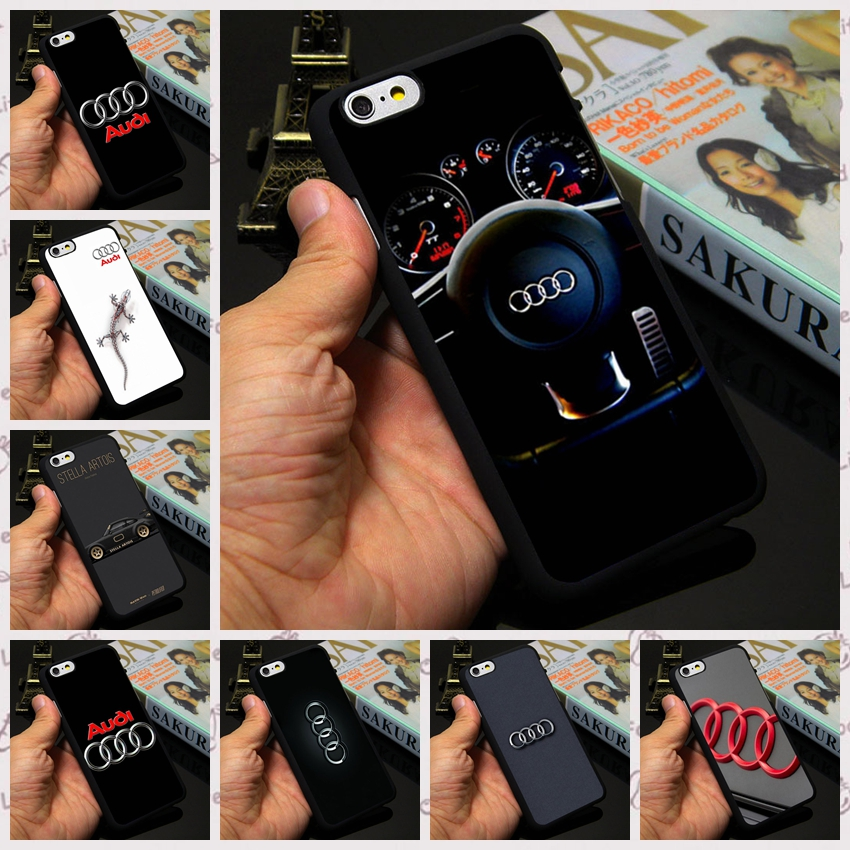 "Audi A3 A4 A6 Honda VW Printed Logo Phone Cover For Apple iPhone 7 4 4s 5c 5 5s 6 6s plus 4.7"" 5.5""(China (Mainland))"
