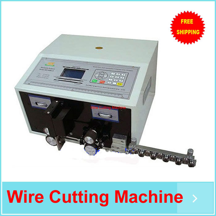 Free ship Computer Automatic Wire Stripping Machine, Wire Cutting Machine, Wire Cutting & Stripping Machine SWT508-C LCD Display(China (Mainland))