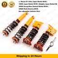 Coilover For NISSAN S13 180SX 200SX Silvia 240SX Coilovers Struts Adjustable Ride Height Camber Plate Coupe
