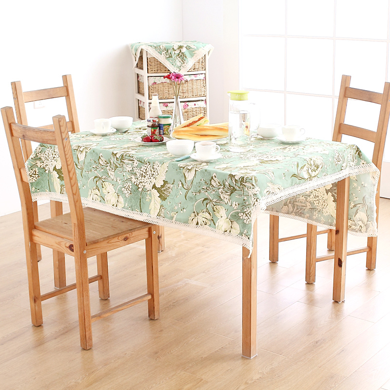 Pastoral style table cloth green tablecloth dust cover clothing(China (Mainland))