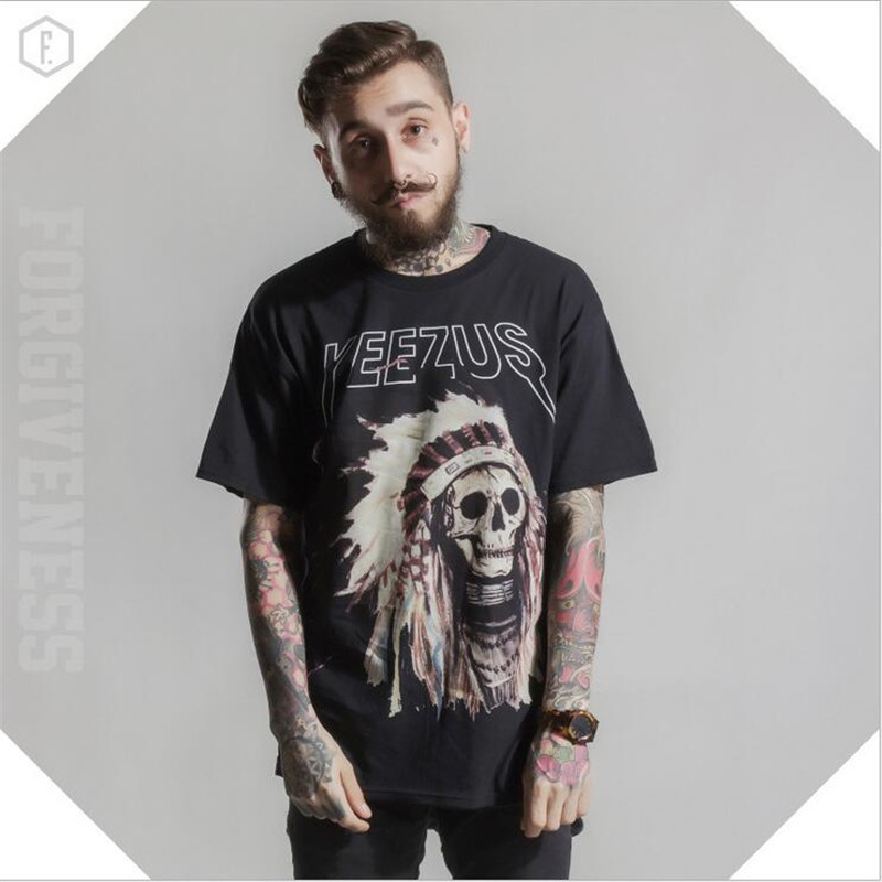 2016 fashion hip hop men t shirts India an Avatar printed cotton casual rock punk t-shirts tees tops men clothes Plus size(China (Mainland))