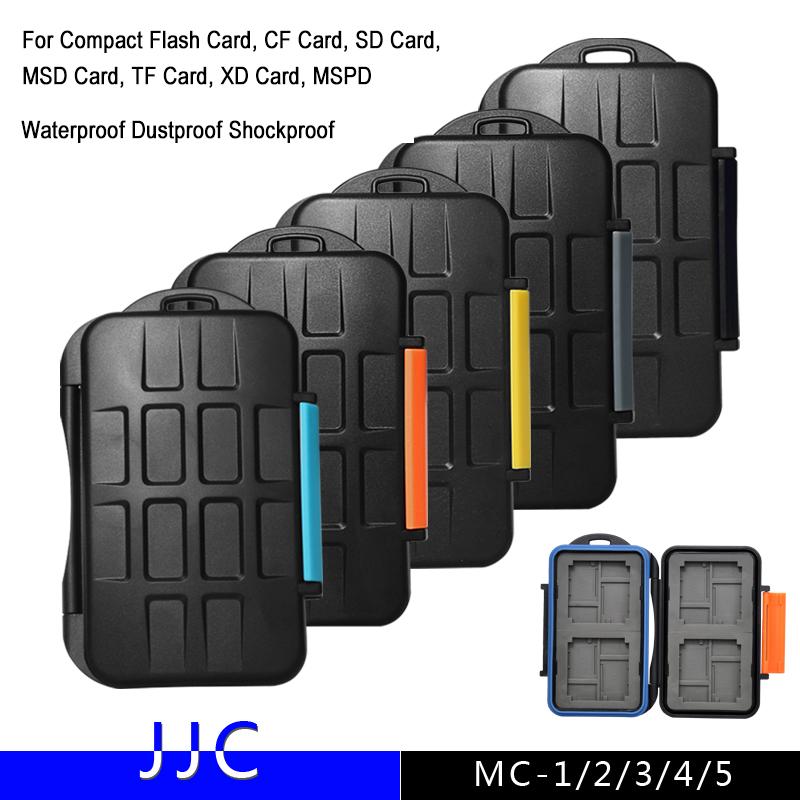 JJC MC Series Digital Camera Memory Card Case Waterproof Dustproof Shockproof For Compact Flash CF SD Card TF Micro SD XD Card(China (Mainland))