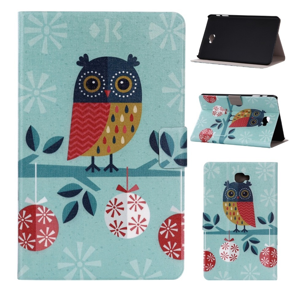 High Quality Print Stand PU Leather Sleeve Cover Protective Case For Samsung Galaxy Tab A 10.1 T580N Tablet PC(China (Mainland))