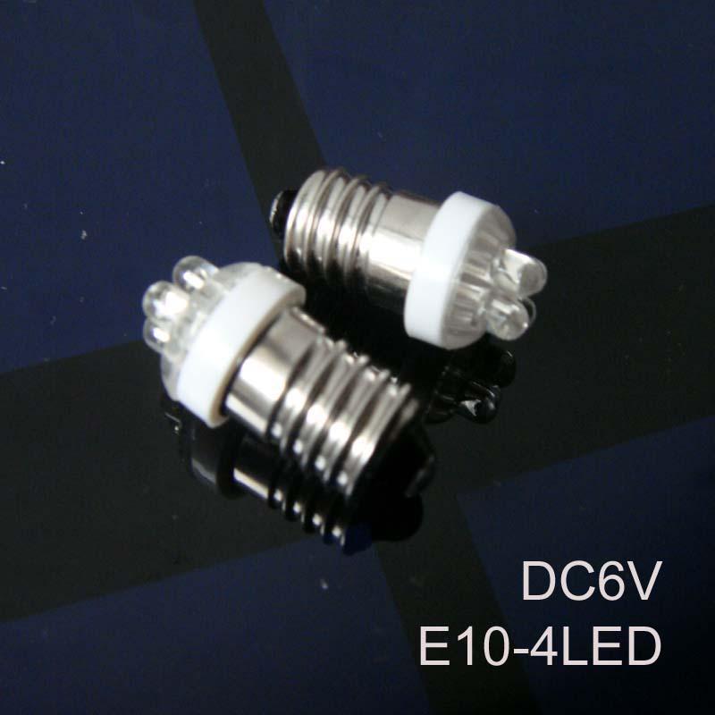 High quality 6v E10 led Signal lights,6v E10 led Instrument lights,DC6.3V led E10 lights E10 led 6Vdc free shipping 10pcs/lot(China (Mainland))