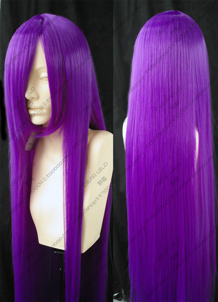 HOT sell Free Shipping &gt;&gt;&gt; Fashion Cosplay Long Pure Purple Wigs/Hair 100cm<br><br>Aliexpress