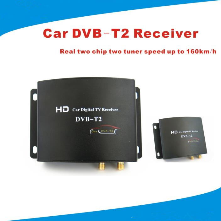2015 New Arrival 160-180KM/H HD Dual Tuner DVB-T2 Car Digital TV Receiver Dual Tuner DVB-T/T2 for Russia Thailand Colombia(China (Mainland))