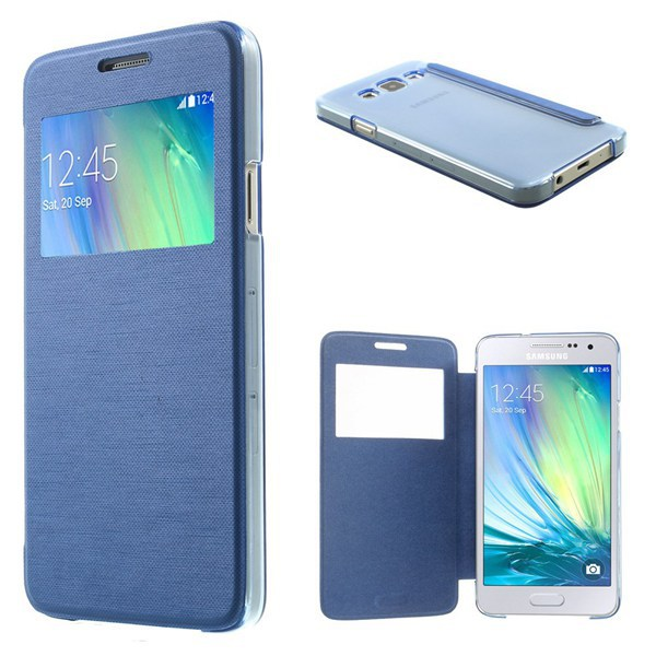 View Window Folio Leather Cover For Samsung Galaxy A3 SM-A300F Phone Case 1PCS Free Shipping(China (Mainland))