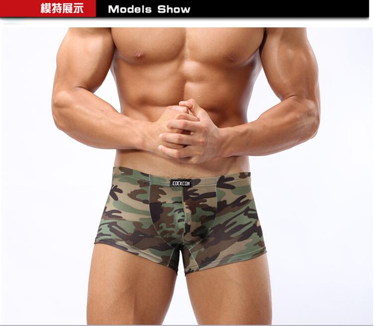 COCKCON High-grade Antibacterial Camouflage Ice silk Men Underwear mens Boxer shorts boxer Sexy boxer Modal Underwear(China (Mainland))