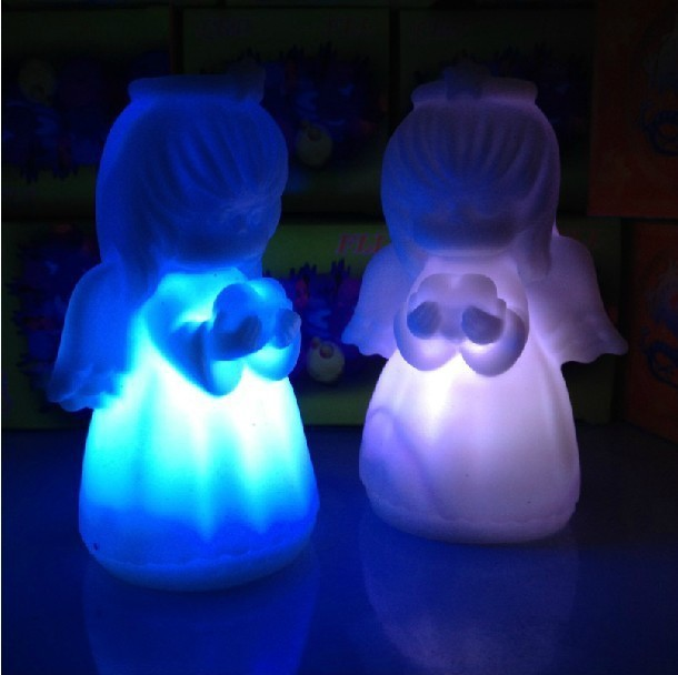 LED Lamp Angel night Light Colorful Baby Nightlight Cute Small LED Night Light for Christmas Gifts 7 Color Change Pray Blessing