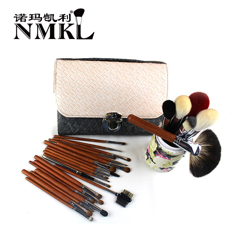 2015 new animal hair 26 professional makeup brush set high-grade wooden handle 2 color mosaic make-up tools brush.<br><br>Aliexpress