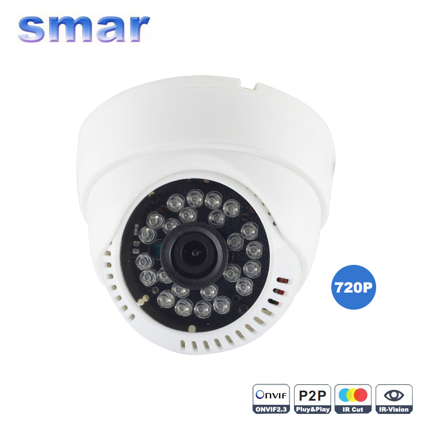 Mini IP Camera 720P/960P Home Security Indoor 1.0MP/1.3MP HD Network CCTV Dome Onvif P2P Pluy Play IR CUT Filter Hot - smar Official Store store