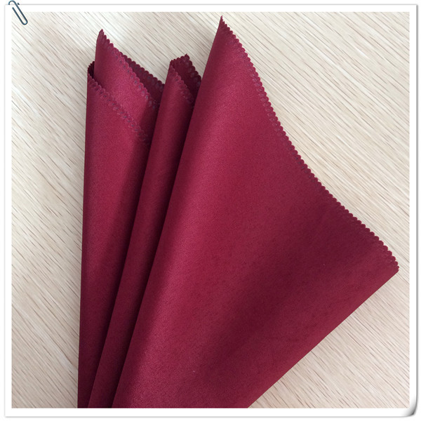2015 Hot Sale !!!!! 100 pack Polyester 45*45cm Burgundy Napkin Wedding Restaurant Catering FREE SHIPPING(China (Mainland))