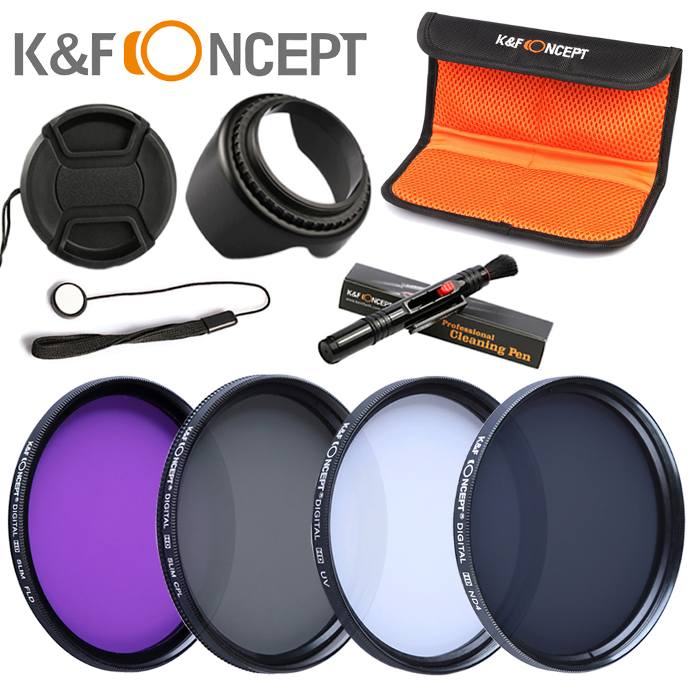 K&F Concept 52mm CPL Polarizing FLD UV ND4 Lens Filter Set For Canon 1100D 650D 600D 60D 6D(China (Mainland))