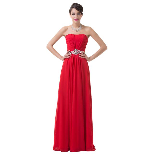 Грейс карин корсет длинный красный вечернее платье лифы пром платья из шифона горный ...